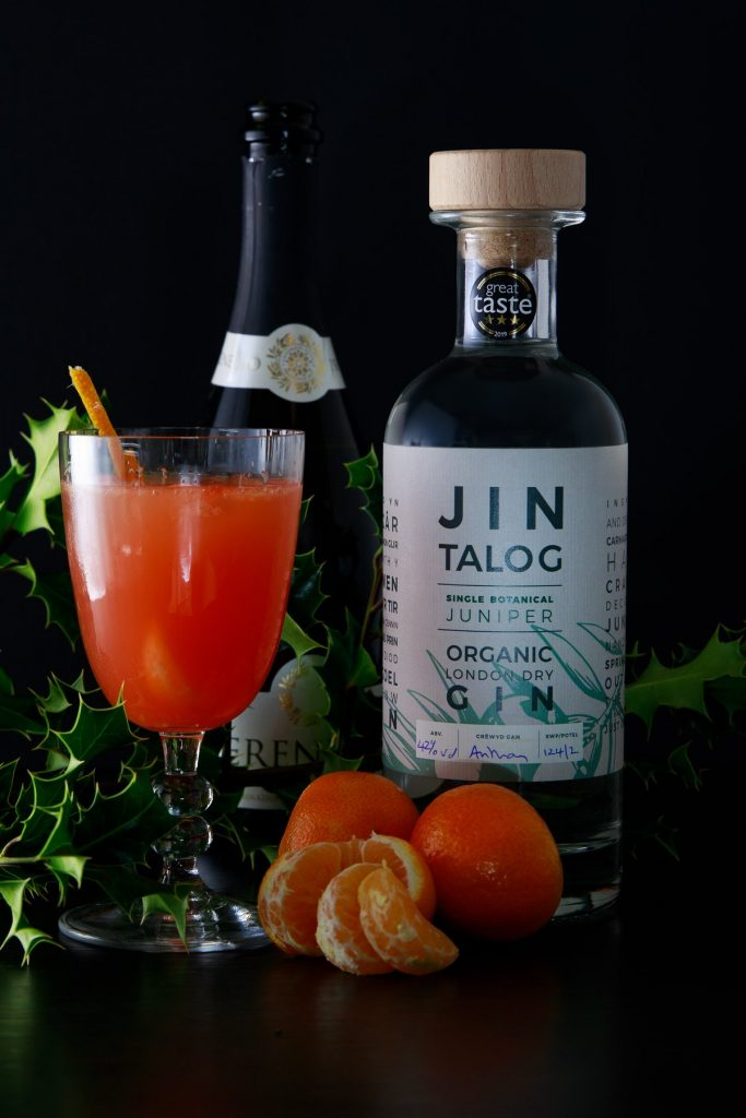 Clementine Sparkler a gin cocktail by Jin Talog