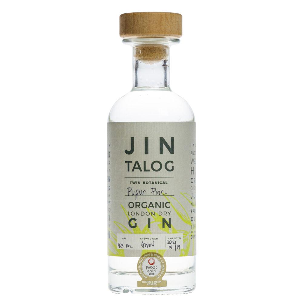 Jin Talog Twin Botanical Pupur Pinc Organic Gin Bottle