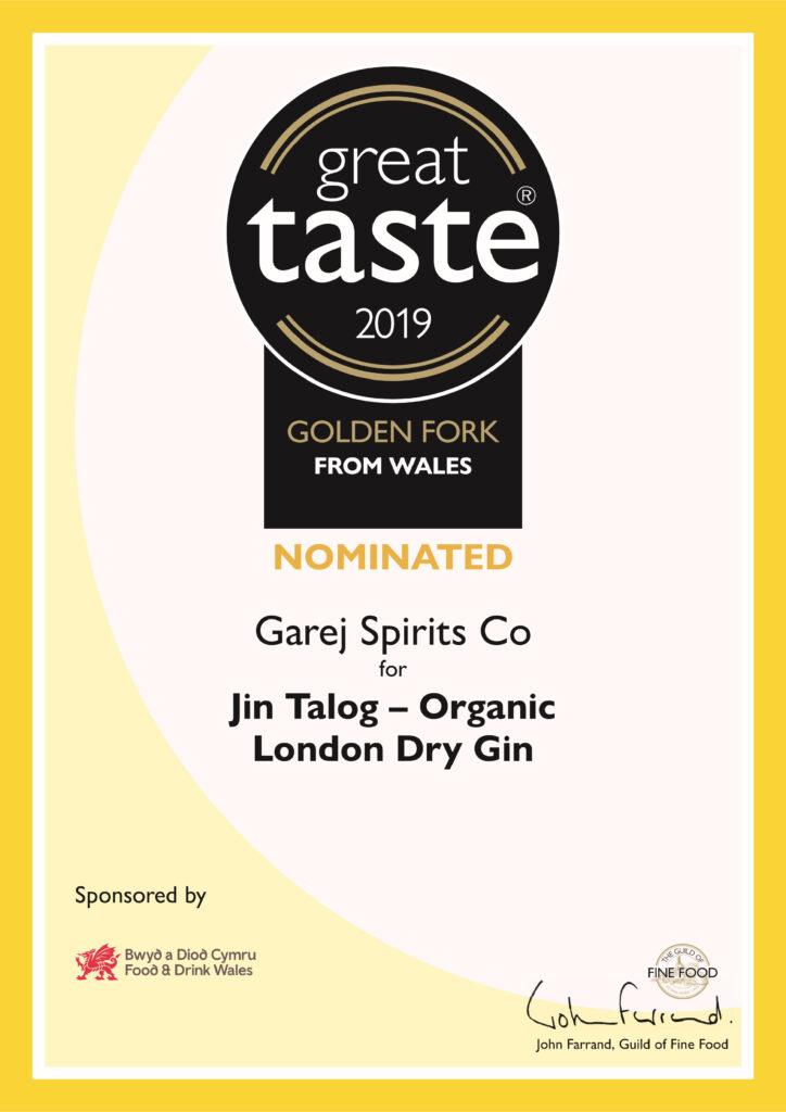 Jin Talog Great Taste and Golden Fork Awards